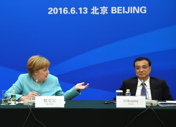 Merkel Presses China to Level the Playing Field