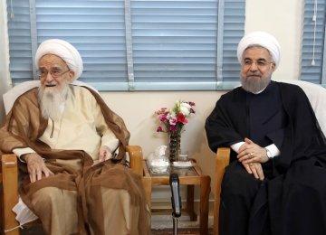 Rouhani Meets Top Clerics
