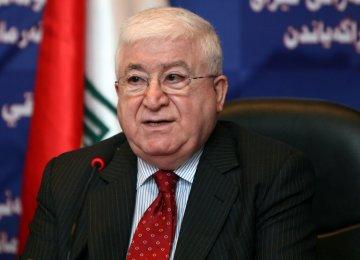 Iraq President Hails Friendly Ties