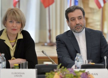 Araqchi, EU's Schmid Meet on JCPOA Implementation