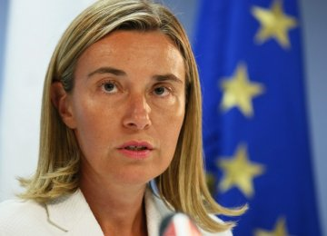 Mogherini: Iran's Regional Clout an Undeniable Reality