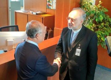 Salehi, Amano Discuss JCPOA Implementation