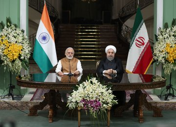 Rouhani, Modi Call for   Eradicating All Forms of Terror