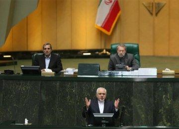 Zarif Briefs Majlis on JCPOA, Turkish Developments