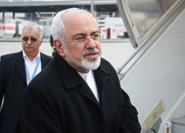 Zarif to Attend Caspian Meeting in Astana