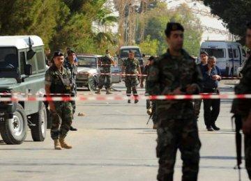 Suicide Bombers Kill  5 in Lebanon