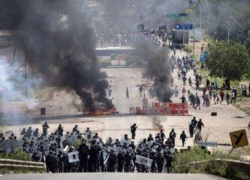 Mexico Flies Food to Blockade-Hit Areas