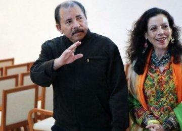 Nicaragua's Ortega Names Wife as Running Mate