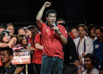 Hardliner Duterte Wins Philippines Presidency