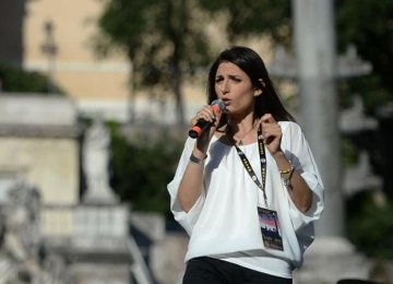 Raggi Set to Become Rome's 1st Female Mayor
