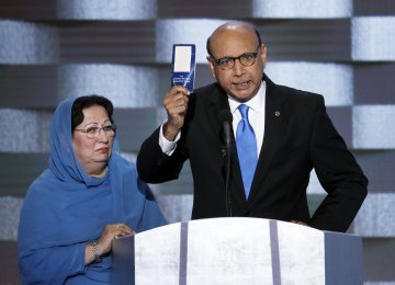Trump Reacts to Rebuke From Muslim Soldier's Father