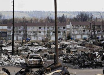Canada Wildfire Crosses Into Saskatchewan