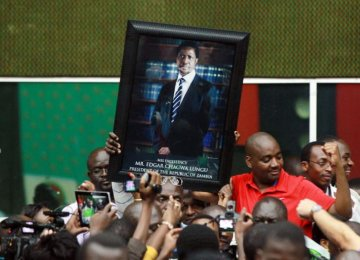 Zambia's President Leads  in Early Election Results