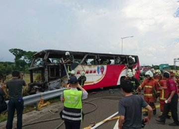 26 Dead in Taiwan Tourist Bus Fire