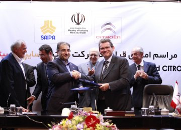 PSA-SAIPA Deal for  Citroen Production in Iran