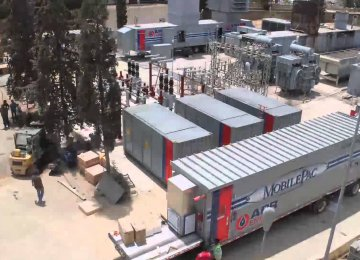 1st Mobile Power Plant Launched in Tehran