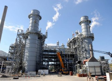 Iranian Power Plants' Gas Consumption Up 5%