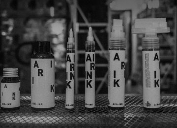 Ink From Air Pollution