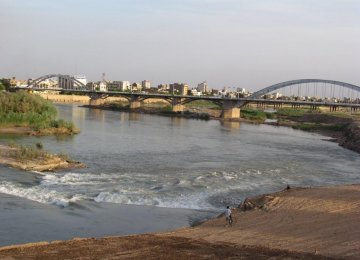 Waste management has improved the quality and color of Karoun River.