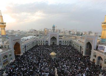 Most Iraqi pilgrims visit the Shrine of Imam Reza (PBUH) in Mashhad, Khorasan Razavi Province.