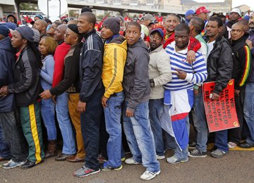 South Africa Jobless Rate Rises