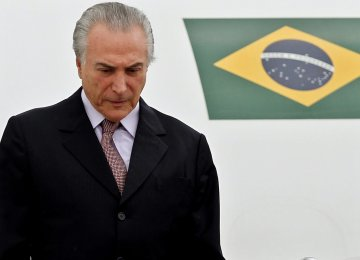 Crisis-Hit Brazil and Temer's Task