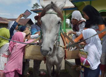 Horseback Library in Remote Indonesia
