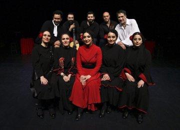 Standing from left: Ashkan Sadeqi, Emad Ejlal, Kian Kordestani, Ahmad Qaed and Farhad Jam. Sitting from left: Hana Kamkar, Atyeh Javid, Negar Abedi, Elham Shakib and Parandeh Alaei