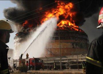 Fire Crew Mobilize to Battle  Massive Petrochem Blaze