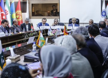 The 21th Executive Meeting of ECO's Chamber of Commerce and Industries was held in Tehran on Aug.16. (Photo: Bahareh Taghiabadi)