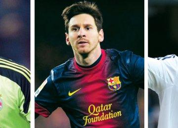 Trio Battle for FIFA Ballon d'Or Crown