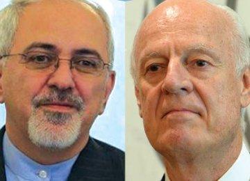 Zarif Meets UN Syria Envoy
