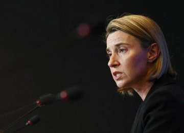 Mogherini's statement followed President Hassan Rouhani's speech in which he criticized the US  for a lack of commitment to the accord.