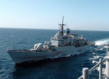Italian Navy Ship Docks in Iran