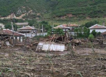 Destruction to crops will worsen North Korea's chronic food shortages.