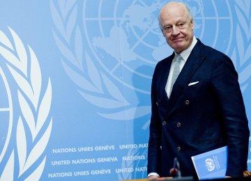 UN's special envoy to Syria, Staffan de Mistura