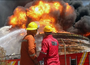Fire Doused at Asalouyeh Petrochem Complex