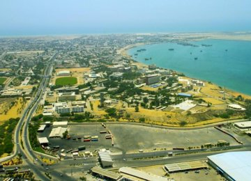The development of Shahid Beheshti Port in Chabahar, located on the southernmost tip in Iran in the Gulf of Oman, started in 2007.
