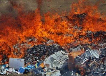 Smuggled Goods Destroyed Nationwide