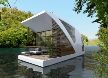 This undated photograph shows an award-winning floating suite design by the Serbia-based firm Salt & Water.