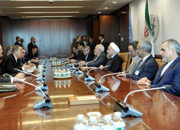 Iranian and UN delegations meet on the sidelines of the UN General Assembly on Sept. 21.