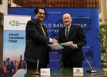 WB, BRICS Bank Sign Coop. MoU