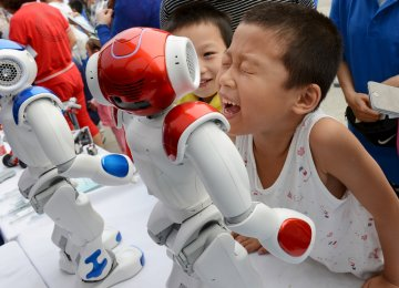 Chinese industrial production has finally stabilized during the last year after five years of steady declines. The picture shows robot revolution rises in China.