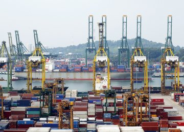 Singapore Exports Stall