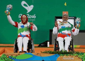 Zahra Nemati (L) and Ebrahim Ranjbar