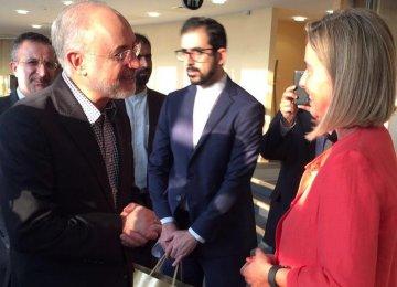Mogherini, AEOI Chief Discuss Nuclear Deal
