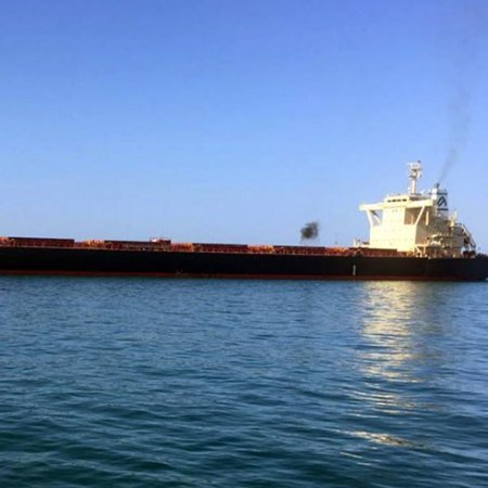 Bulk Carrier Docking at Iran's Chabahar Largest Ever - Photo IRNA