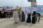 Iraqi people cast their vote at a polling station on May 12.