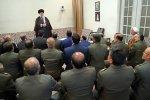 Leader of Islamic Revolution Ayatollah Seyyed Ali Khamenei addresses senior Army commanders in Tehran on Sunday.