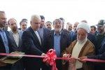 Interior Minister Abdolreza Rahmani Fazli (C) inaugurates Bojnourd Airport's new terminal on June 21.